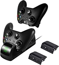 Bek Design Xbox One Controller Charger Dual Charging Station for Xbox One/One S/One X/One Elite - 2 Rechargeable Battery Packs Included