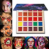 Lip Makeup Palette, DE'LANCI Long Lasting Wear Lip Care Moisturizing Lipstick Set,Pigmented Festival Halloween Body Face Paint 25 Colors,Professional Blendable Lip Makeup for Girl/Women/Kids-All Skin