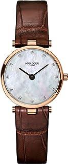 agelocer 艾戈勒 瑞士品牌 超薄4.8mm 小牛皮 防水30米 石英女士手表 超薄时尚简约精致女表 708(亚马逊自营商品, 由供应商配送)