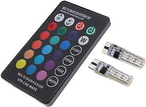 Homyl 2X T10 5050 12SMD RGB LED Color Remote Light Bulbs + Remote Control