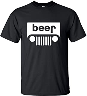 Adult Jeep Beer Funny Novelty Unisex T-Shirt