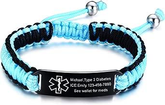 paracord medical alert bracelets