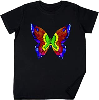 Mella masón Mariposa tee Niños Chicos Chicas Unisexo Camiseta Negro