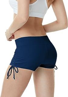 TSLA Womens's Swim Shorts, Quick Dry Water Beach Board Short, Tankini Bathing Athletic Swimsuit Bottoms