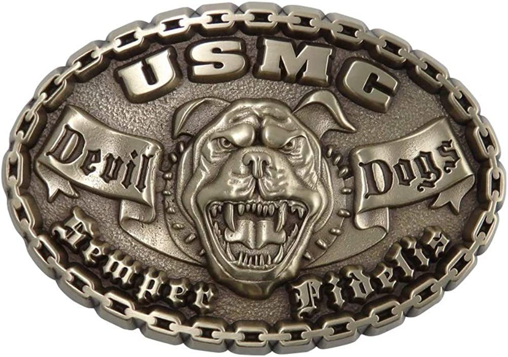 Indiana trend rank Metal Craft US Marine Corps Outlet sale feature Brass B Devil Dog Belt Solid