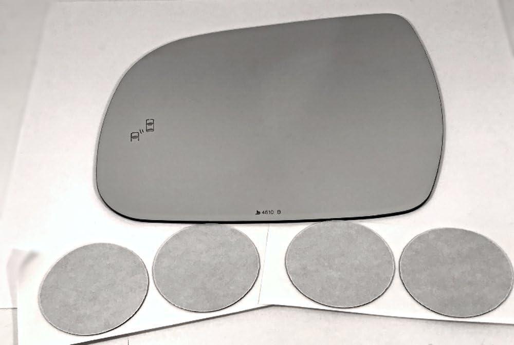 VAM Fits 13-20 Sienna Left Mirror Spot Detect w 1 year warranty Lens Glass Blind Max 44% OFF