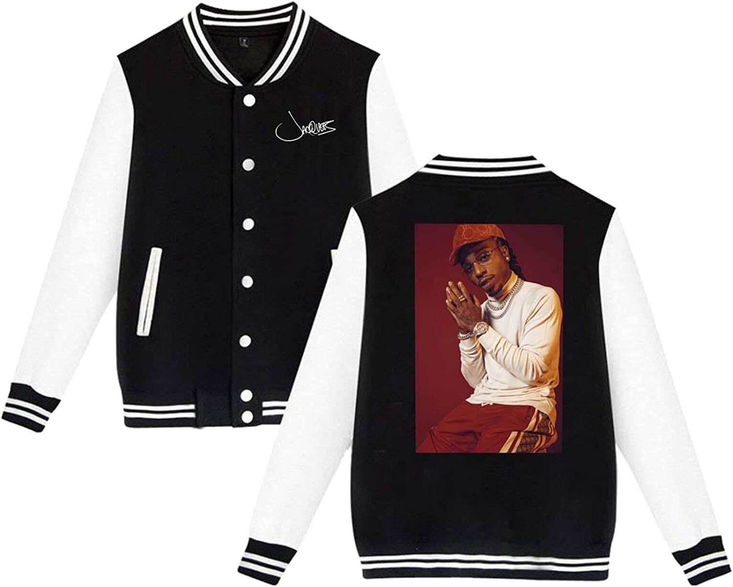 Jacquees Mens Limited price Slim Ranking TOP14 Fit Varsity Jacket Sport Coat Baseball