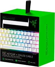 Razer PBT Keycap + Coiled Cable Upgrade Set: Durable Doubleshot PBT - Universal Compatibility - Keycap Removal Tool & Stab...