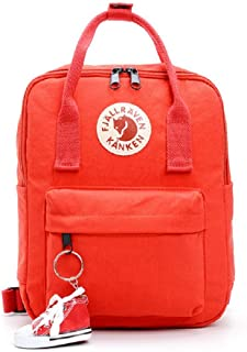 Fjallraven Kanken Mini Backpack with Charm (Red)