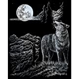 ROYAL BRUSH Silver Foil Engraving Art Kit, 8 by 10-Inch, Wolf Moon