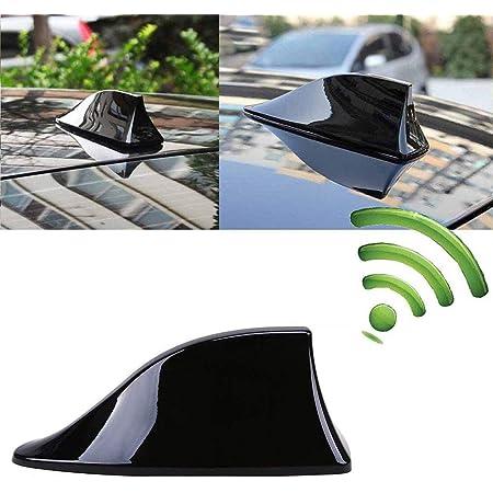 Intvn Auto Haifischflosse Auto Antennen Universal Auto Shark Universal Auto Antenne Für Den Radioempfang Vom Am Fm Empfang Schwarz Auto
