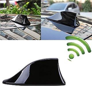EBTOOLS Antenna per pinne di squalo per auto SI-AT14036 Antenna per pinne di squalo per auto universale Tetto radio AM//FM Segnale radio per nero modificato