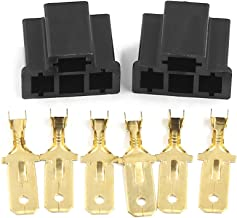 uxcell 2 Sets Car Socket Xenon Light Bulb Truck Connector for H4/9003/HB2