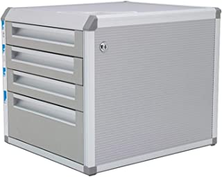 XHMCDZ Drawer Organizers Office Cabinets, Racks & Shelves Home Office Cabinets A4 Paper Data Storage Box Silver Aluminum M...