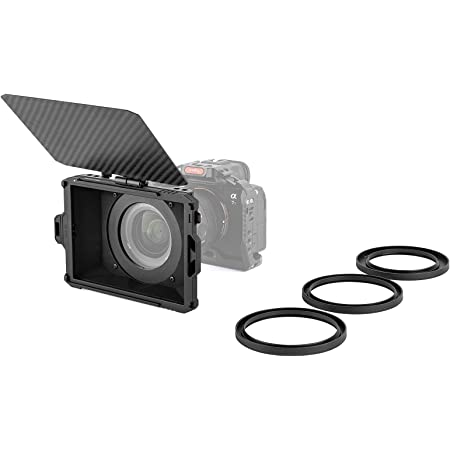 """SMALLRIG Mini Matte Box per DSLR/Fotocamere Mirrorless, con Cornice Filtro 4 x 5,65"""" e Anelli Adattatori 67mm/72mm/77mm/82-95mm - 3196"""