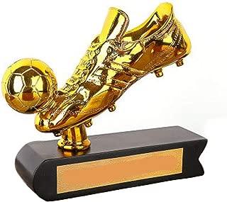 Football Golden Boot Trophy World Cup- Fanartikel Souvenir, Plating Football Boot Model 3D Gold Football Resin Handicraft,Replica Soccer Best Shooter