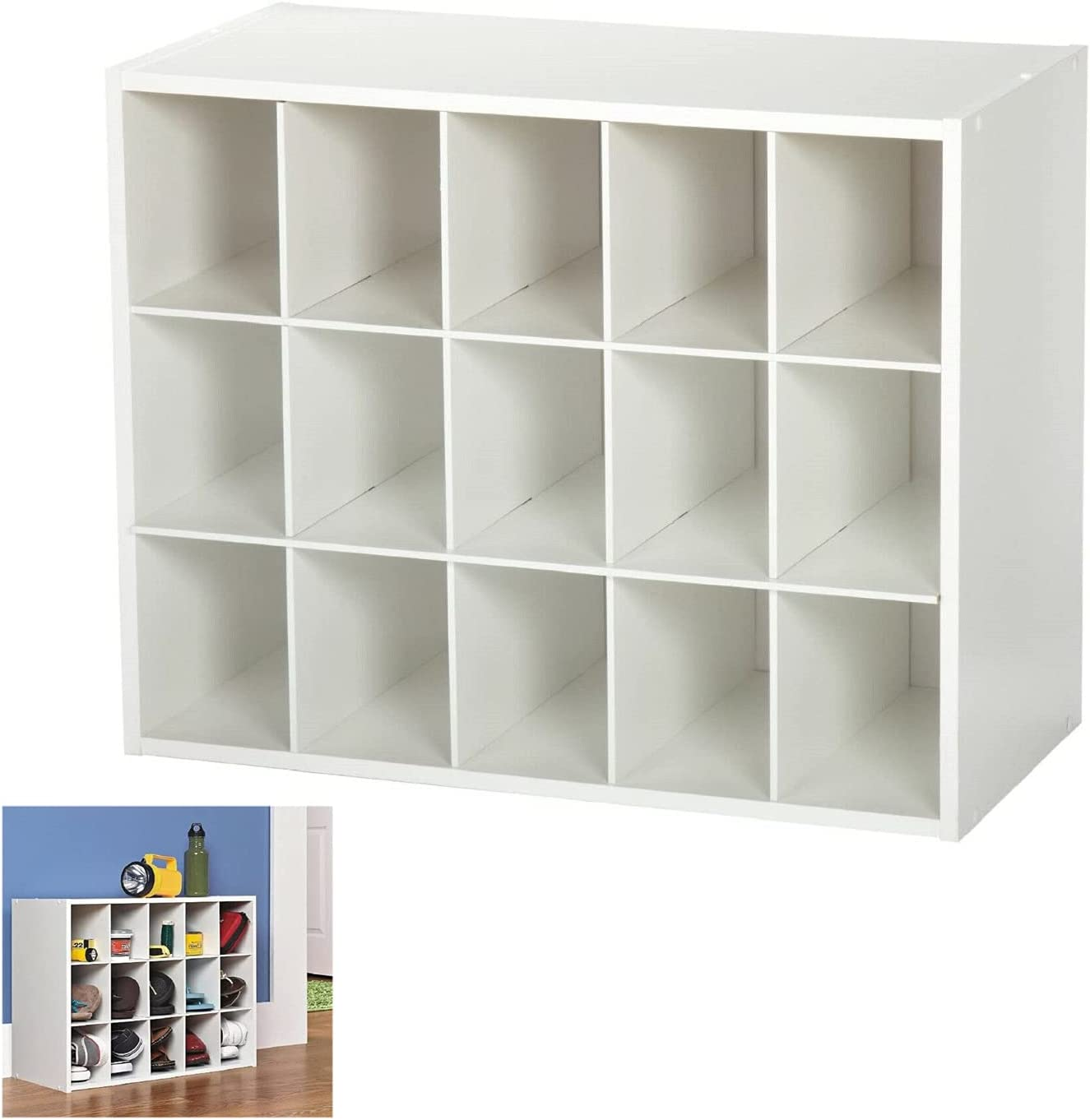 White 15 Cube Unit Max 50% OFF Shoes Fixed price for sale Cabinet Stackab Storage Shelf organizer