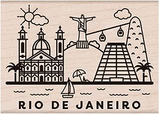 Hero Arts Destination Rio De Janeiro Red Rubber Woodblock Stamp