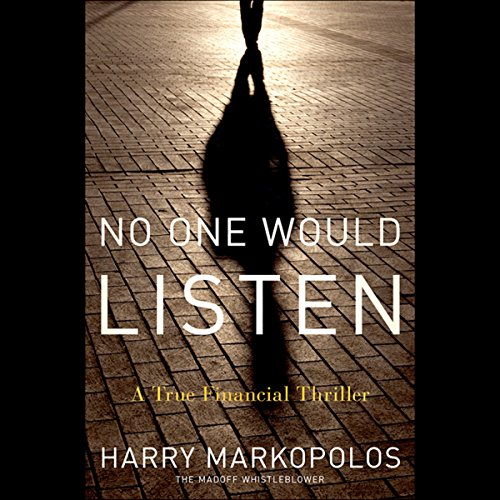No One Would Listen audiobook cover art