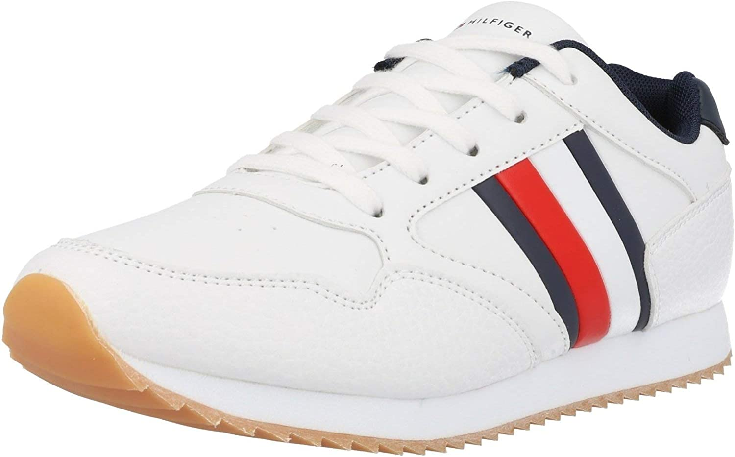 Tommy Hilfiger Trainer White/Blue Eco Leather
