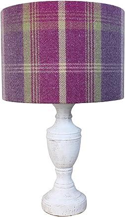 Ameublement et décoration 40 cm Diameter x 25 cm High Table/Standard Lamp Décoration de la maison Balmoral Pistache Tartan Abat-jour tambour 20cm 30cm 40cm Abat-jour Abat-jour