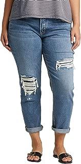 Women's Plus Size Mid-Rise Boyfriend Jeans