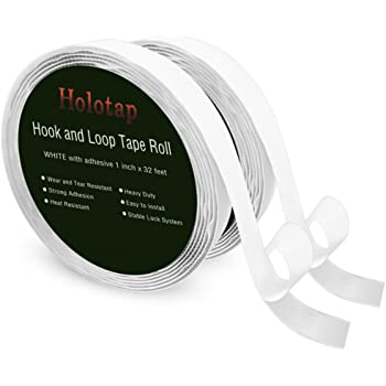 Holotap 面ファスナー 幅2.5CM×長10M 両面テープ 強粘着裏糊付 オスメスセット 業務用 家庭用 工業用 DIY用