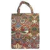 Signare Tapiz bolsas reutilizables fruta y verdura tote bag bolsas de la compra reutilizables con diseño de William Morris (Strawberry Thief Red)