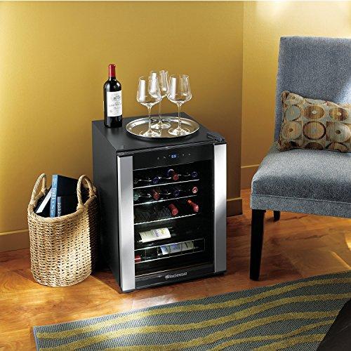 Wine Enthusiast 268 68 20 01 20-Bottle Evolution Series Wine Cooler, Stainless Trim