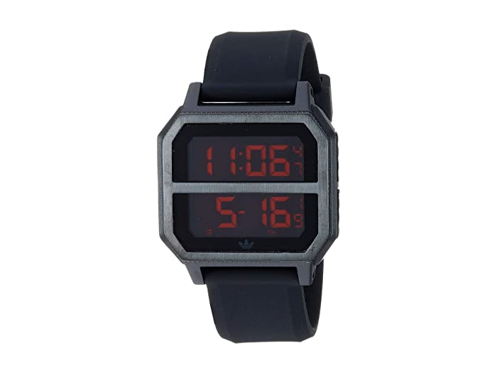 adidas  Archive_R2 (All Black/Red) Watches