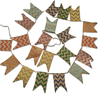 Natural Burlap Bunting Flag, 3.7M Party Supplies Decoration with 21 PCS Linen Banners, Vintage Cloth Shabby Chic Decoration for Celebration Party; Rustic Wedding