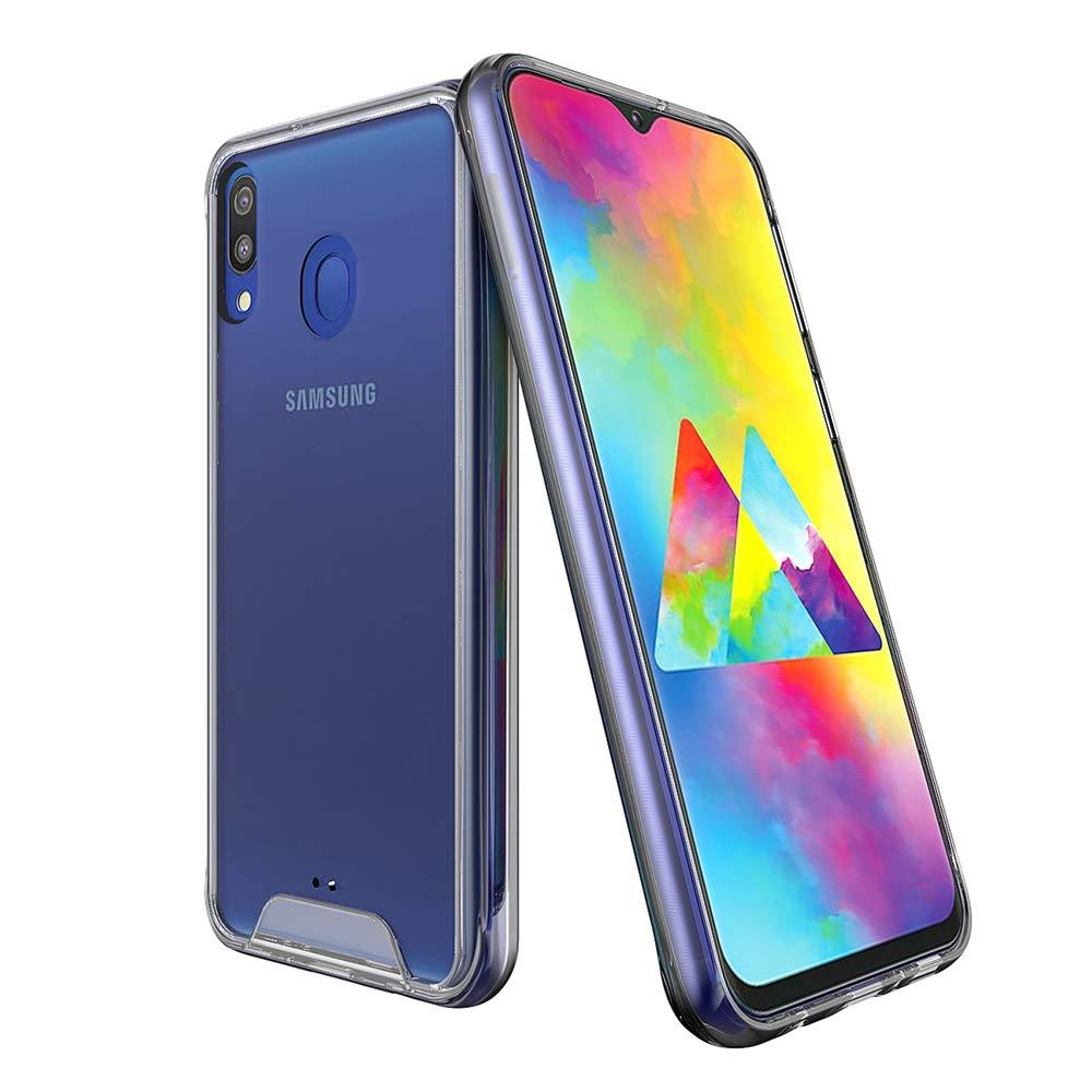 Funda para Samsung Galaxy M20, Transparente Carcasa para Samsung M20 Absorcion de Choque Cojín de Esquina Parachoques con PC Duro Panel Posterior + Marco Reforzado de TPU Suave para Samsung Galaxy M20: