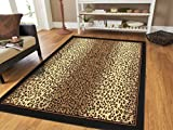 Large 8x11 Cheetah Rug Animal Print Rectangle Leopard Rugs Contemporary 8x10 Rugs for Living Room Modern Animal Rugs (Large 8'x11' Rug)