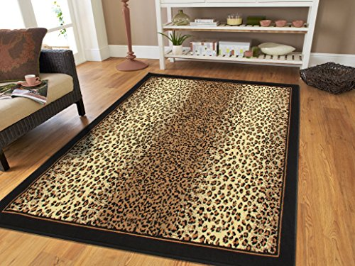 Large 8x11 Cheetah Rug...