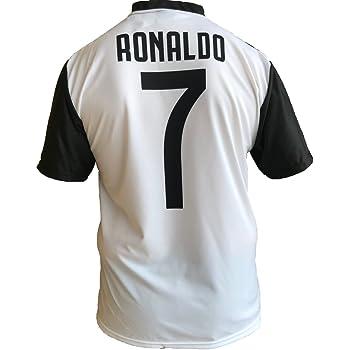 Maglia Juventus Cristiano Ronaldo 7 CR7 Replica Autorizzata 2018-2019 Bambino (Taglie-Anni 2 4 6 8 10 12) Adulto (S M L XL) (10 Anni)
