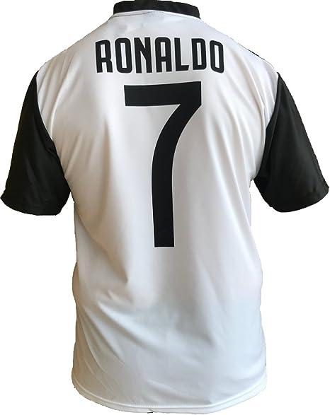 Maglia Juventus Cristiano Ronaldo 7 CR7 Replica Autorizzata 2018-2019 Bambino (Taglie-Anni 2 4 6 8 10 12) Adulto (SML XL) (S)