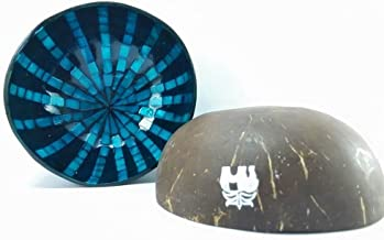 Beautifully Made And Charming Coconut Shell Lacquer With Shell And Eggshell, Fancy Coconut Shell, Decorative Bowl Centerpiece, Unique design, Best For Collection/ Wedding/ Birthday Gift (Kala02)