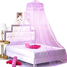 BCBYou Princess Bed Canopy Netting Mosquito Net Round Lace Dome for Twin Full and Queen Size Beds Crib with Jumbo Swag Hoo...