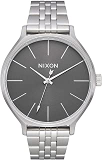 Nixon Clique Women s Silver/Gray Fashion-Forward Watch (38mm. Gray Face/Silver Stainless Steel Band)