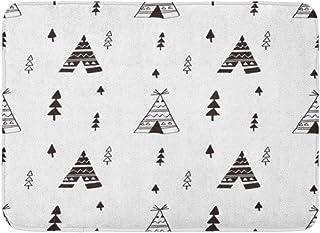 N\A Dörrmattor badmattor utomhus/inomhus dörrmatta tipi tält mönster och baby indian te klotter västern badrum dekor matta