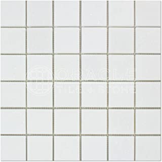 Thassos White Greek Marble 2 X 2 Mosaic Tile, Polished