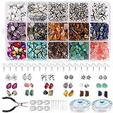 LCE 1000PCS Kit Fabrication Bijoux, Naturelle Perles Pierre,