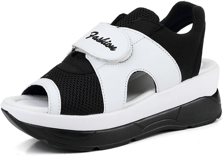 Believed Summer Women Sandals Wedges Sandals Ladies Open Toe Round Toe Platform Sandals shoes