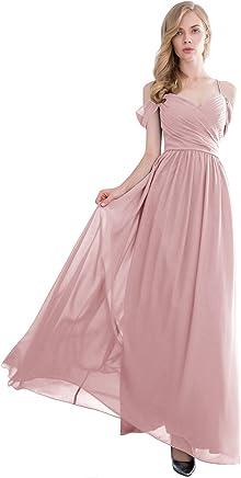 d5f74ed9e6a Gardenwed Women's Off-The-Shoulder Long Chiffon Bridesmaid Dress Semi-Formal  Maxi Prom