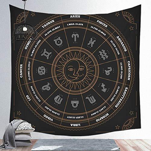 YASHUO Sternbild Astrologie Sternbild Muster Tapisserie Home Decoration Hintergrund Wandbehang,Ppod04,200X150cm