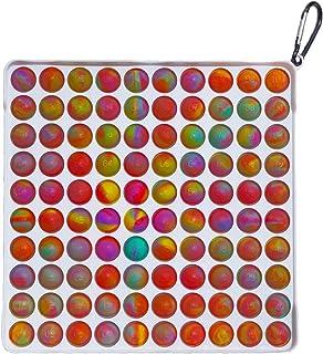 Big Size 100pcs Bubbles,Simple Pop Fidget Toy, Sensory Toys Fidget Simple Dimple Toy Stress Relief Hand Toys for Kids Adul...