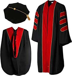Cap and Gown Direct Doctoral Graduation Gown Hood and 8-Sided Tam Package