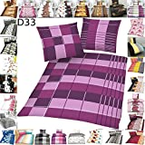 4 TLG Bettwäsche Moderne Hochwertige Microfaser Bettbezug 135x200 Kissenbezug