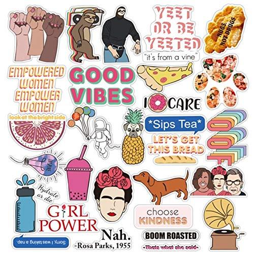 Wter flessen Vinyl Decoratie Sticker voor Laptop Stickers30pcs