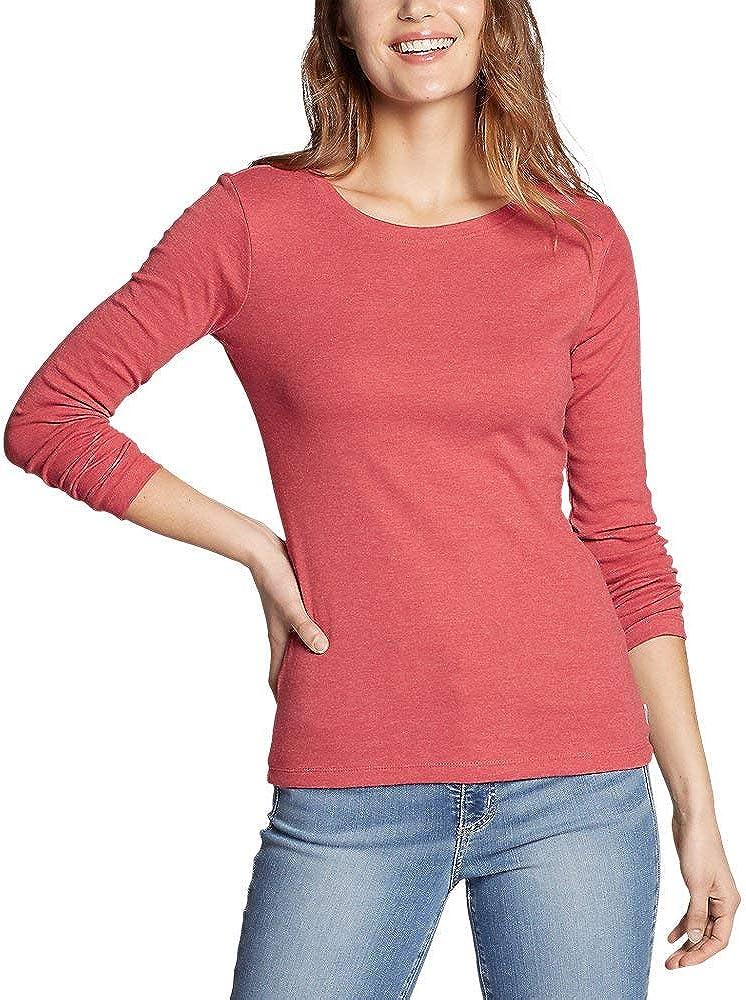 Eddie Bauer Women's Favorite Long-Sleeve Crewneck T-Shirt Desert Rose 3X